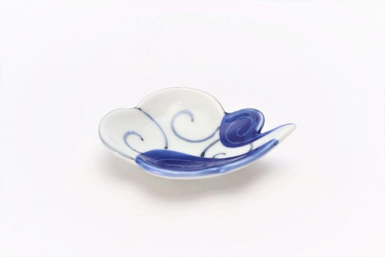 伝平窯 染濃雷雲 雲型豆小皿 画像メイン