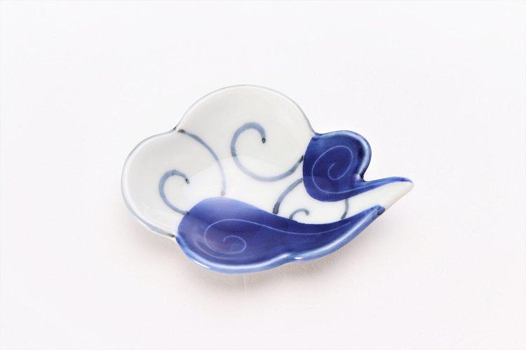 伝平窯 染濃雷雲 雲型豆小皿 画像サブ2