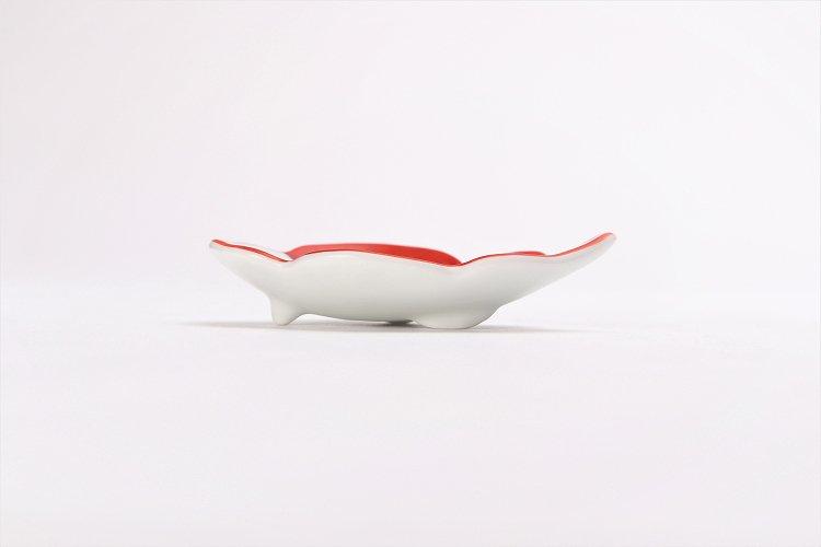 伝平窯 赤流雲 雲型豆小皿 画像サブ1