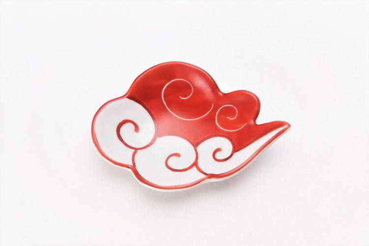 伝平窯 赤流雲 雲型豆小皿 画像サブ2