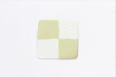 楽々シリーズ 市松(緑) ブローチ(大)