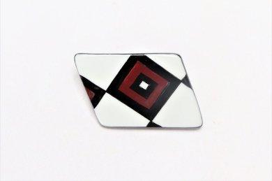 楽々シリーズ 二色市松 ブローチ(菱形)