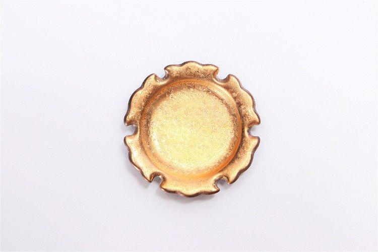 陶悦窯 黒柚子金塗り 雪輪豆箸置き 画像サブ2