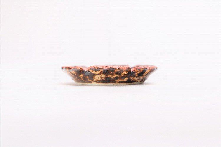 陶悦窯 鉄砂吹赤 雪輪豆箸置き 画像サブ1