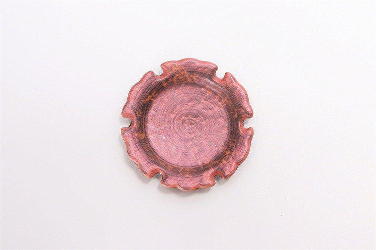 陶悦窯 鉄砂吹赤 雪輪豆箸置き 画像サブ2
