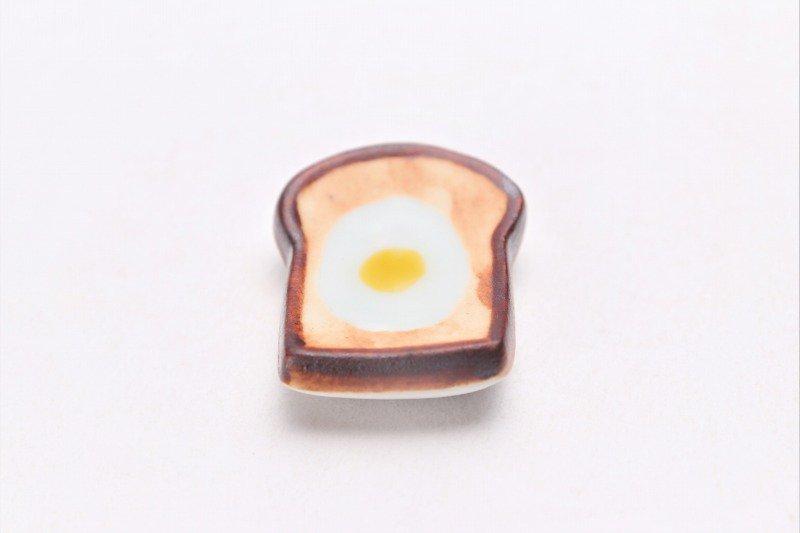 北川美宣窯 食パン(目玉焼き) 箸置き 画像メイン