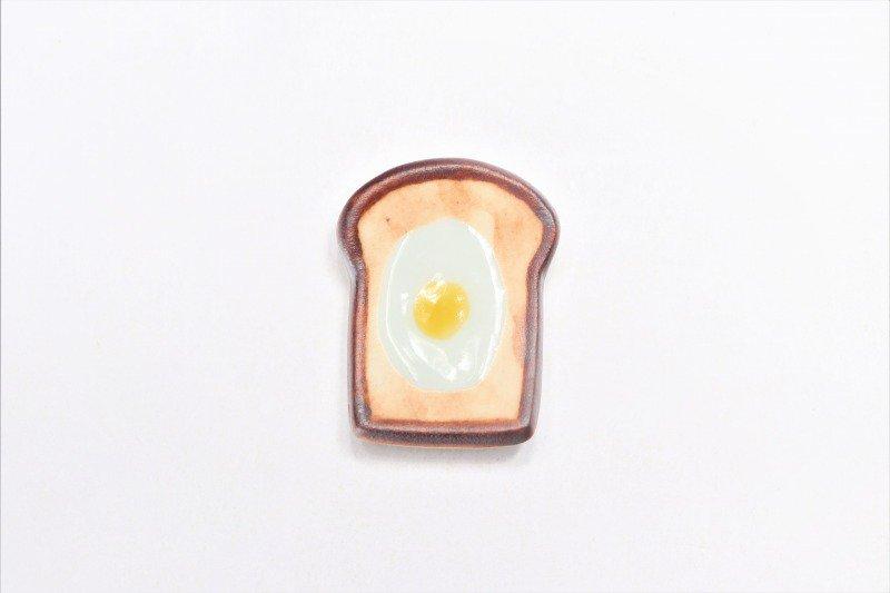 北川美宣窯 食パン(目玉焼き) 箸置き 画像サブ2