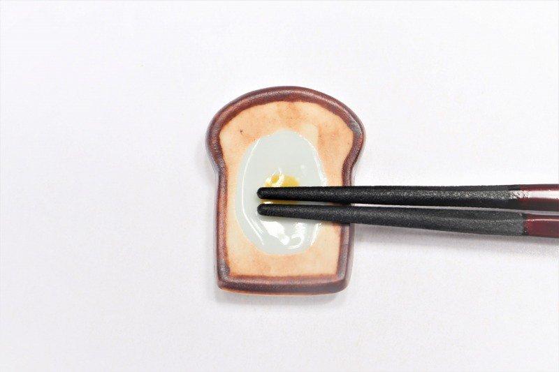 北川美宣窯 食パン(目玉焼き) 箸置き 画像サブ3