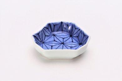 【オリジナル】麻の葉濃 釣鐘型小皿
