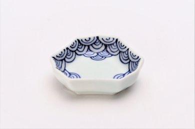 【オリジナル】渕青海波 釣鐘型小皿