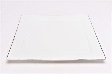 渕プラチナ白マット 25cm角プレート