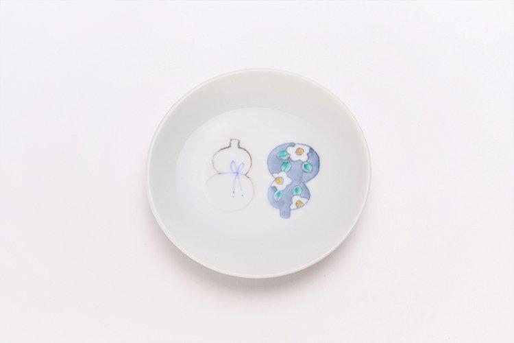 徳七窯 伊万里ひょうたん 3寸皿(青) 画像サブ2