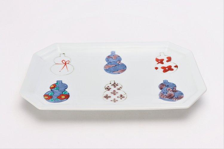 徳七窯 伊万里ひょうたん 八角焼皿 画像メイン