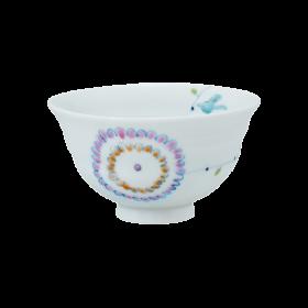 飯碗(紫)(小)|フラワーバード|一峰窯
