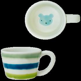 ミニマグカップくま(青)|虹の国