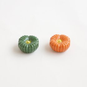かぼちゃ|箸置|緑/橙