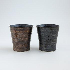 【ギフト】スリム金彩銀彩|ペアカップ|和山窯