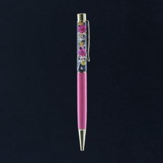 ハーバリウムボールペン完成品・ホワイト(UVレジンタイプ)