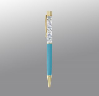 ハーバリウムボールペン完成品・ターコイズ(UVレジンタイプ)