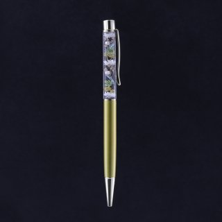 ハーバリウムボールペン限定品・ゴールド(UVレジンタイプ)