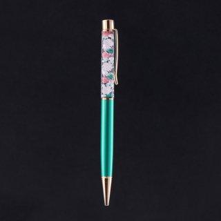 ハーバリウムボールペン限定品・グリーン(UVレジンタイプ)