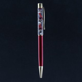 ハーバリウムボールペン限定品・ワイン(UVレジンタイプ)