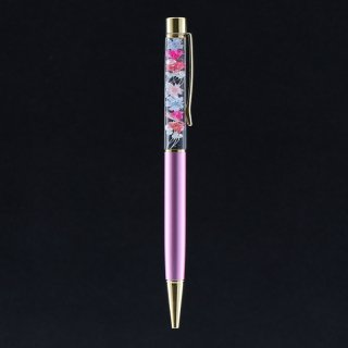 ハーバリウムボールペン限定品・パステルピンク(UVレジンタイプ)