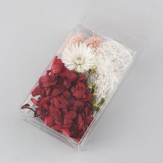 ハーバリウム用花材セットミニパック レッド
