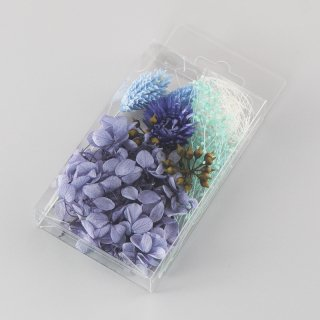 ハーバリウム用花材セットミニパック ブルー