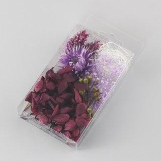 ハーバリウム用花材セットミニパック パープル