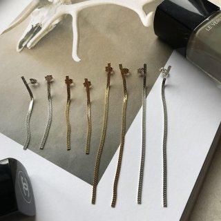 silver925 herringbone chain pierce