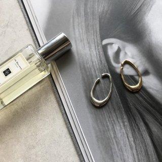 silver925 melty egg earcuff