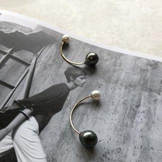 18k×southsea pearl×akoya pearl back pierce/single