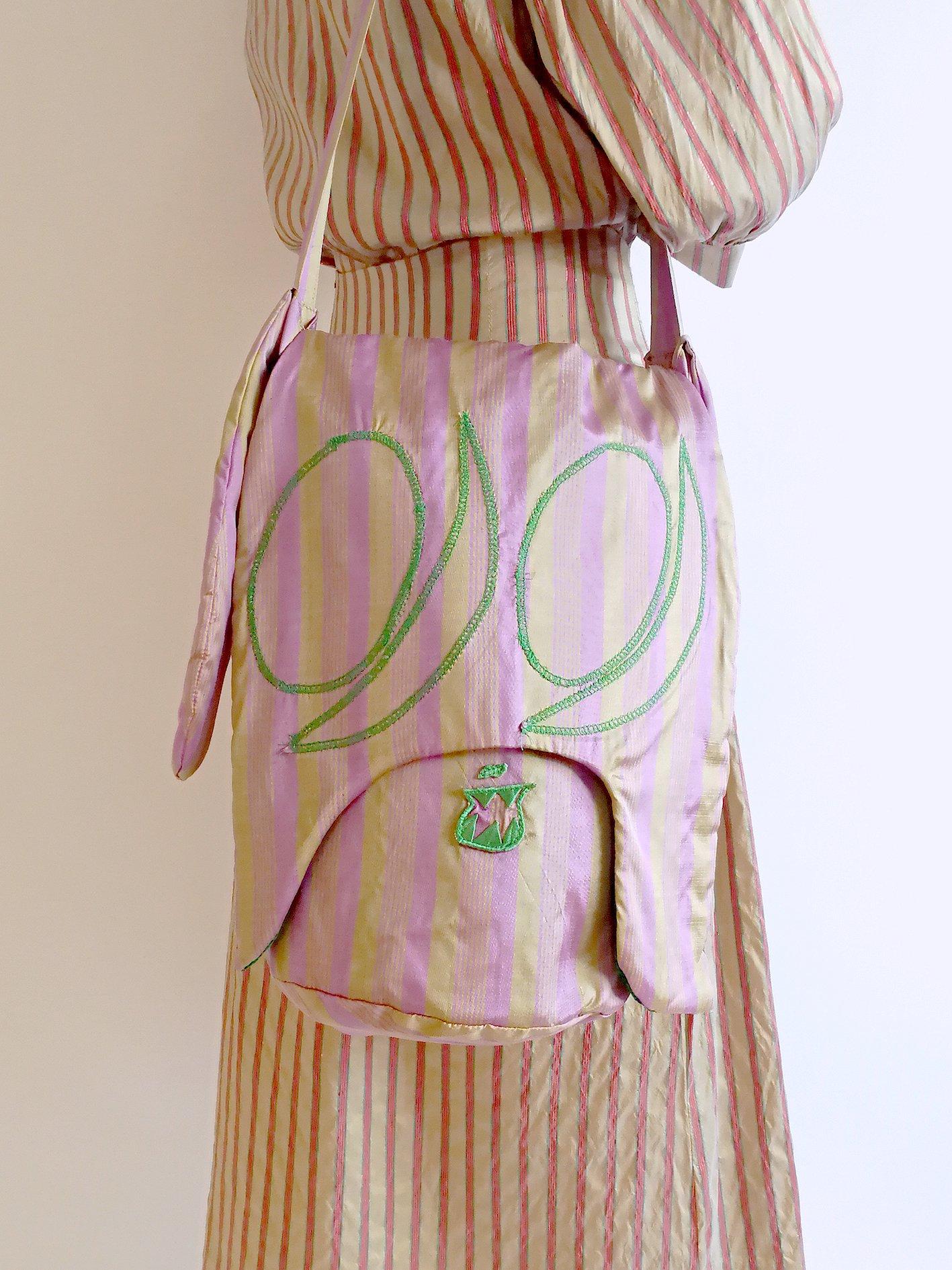 Skoloct Bag / pink × gold