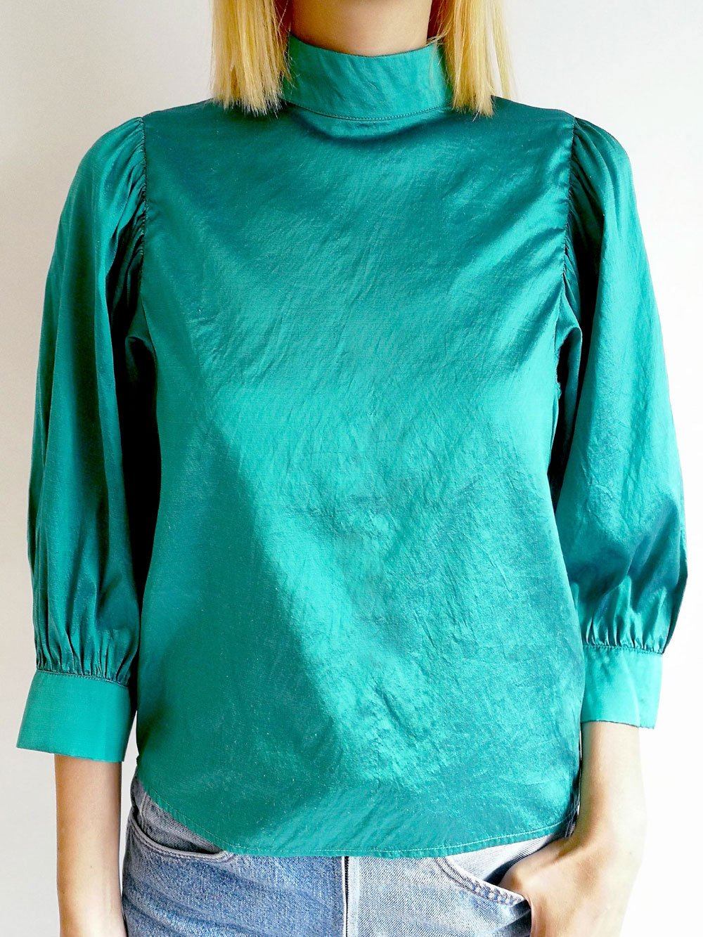 High Necked Tops / original blue
