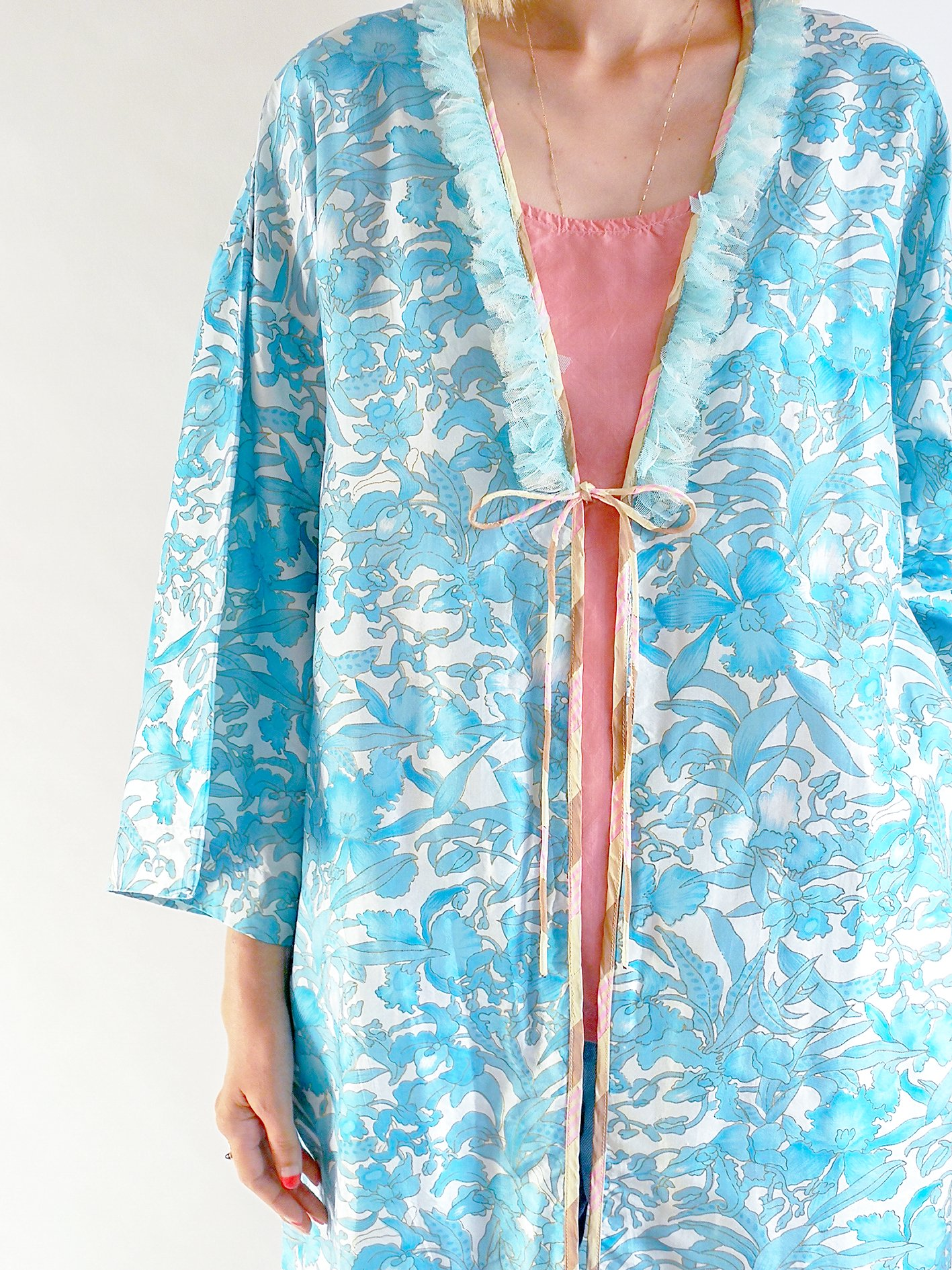 Patchwork Robe / blue flower