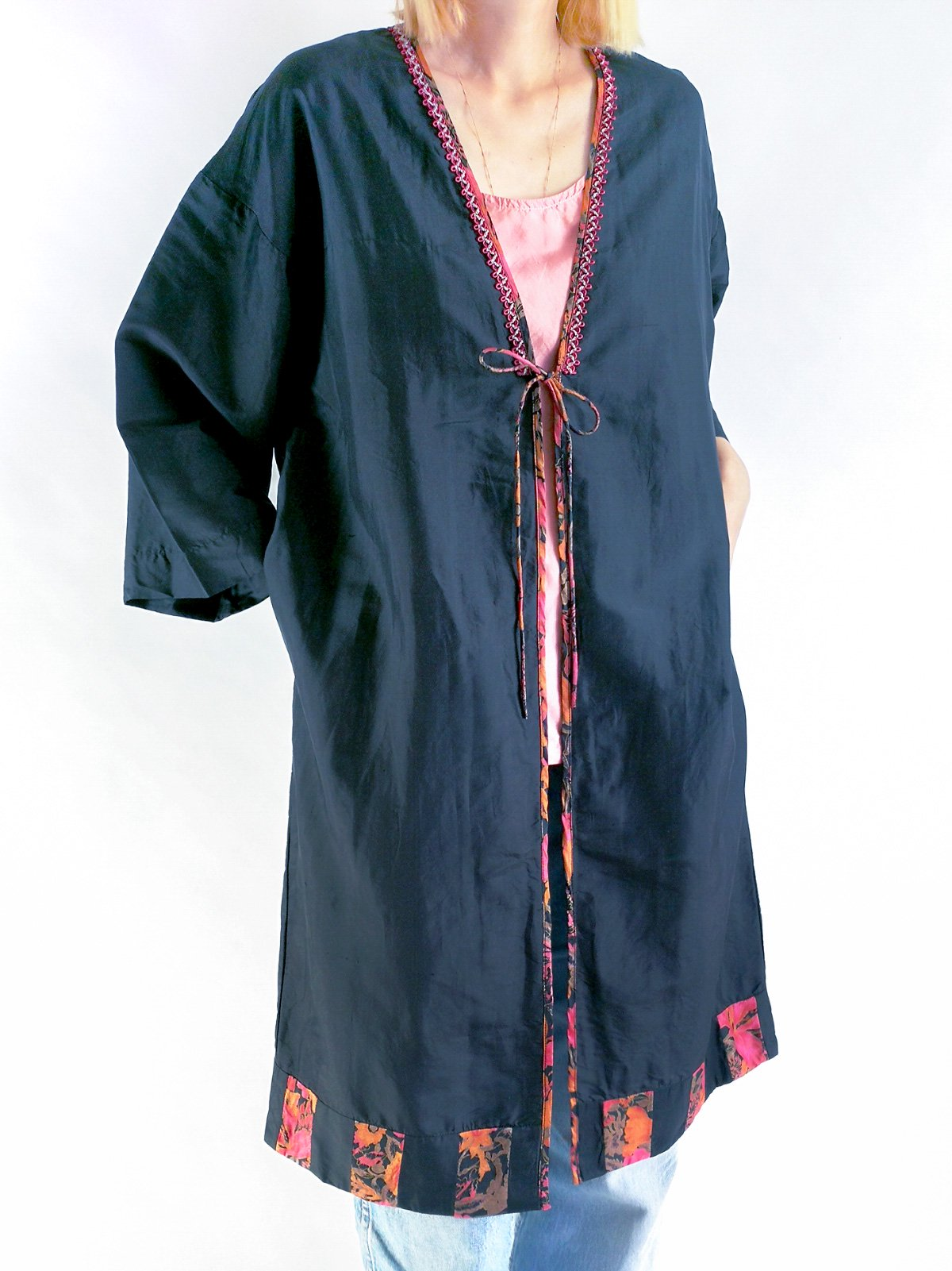 Patchwork Robe / black