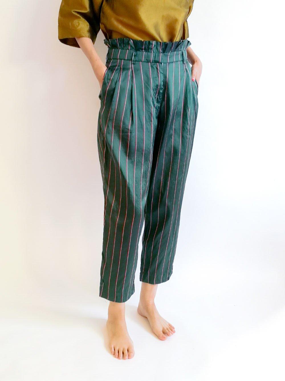 Tucked Pants / dark green