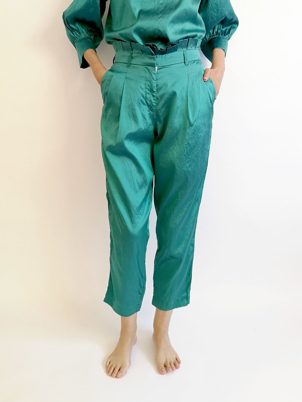 Tucked Pants / original blue
