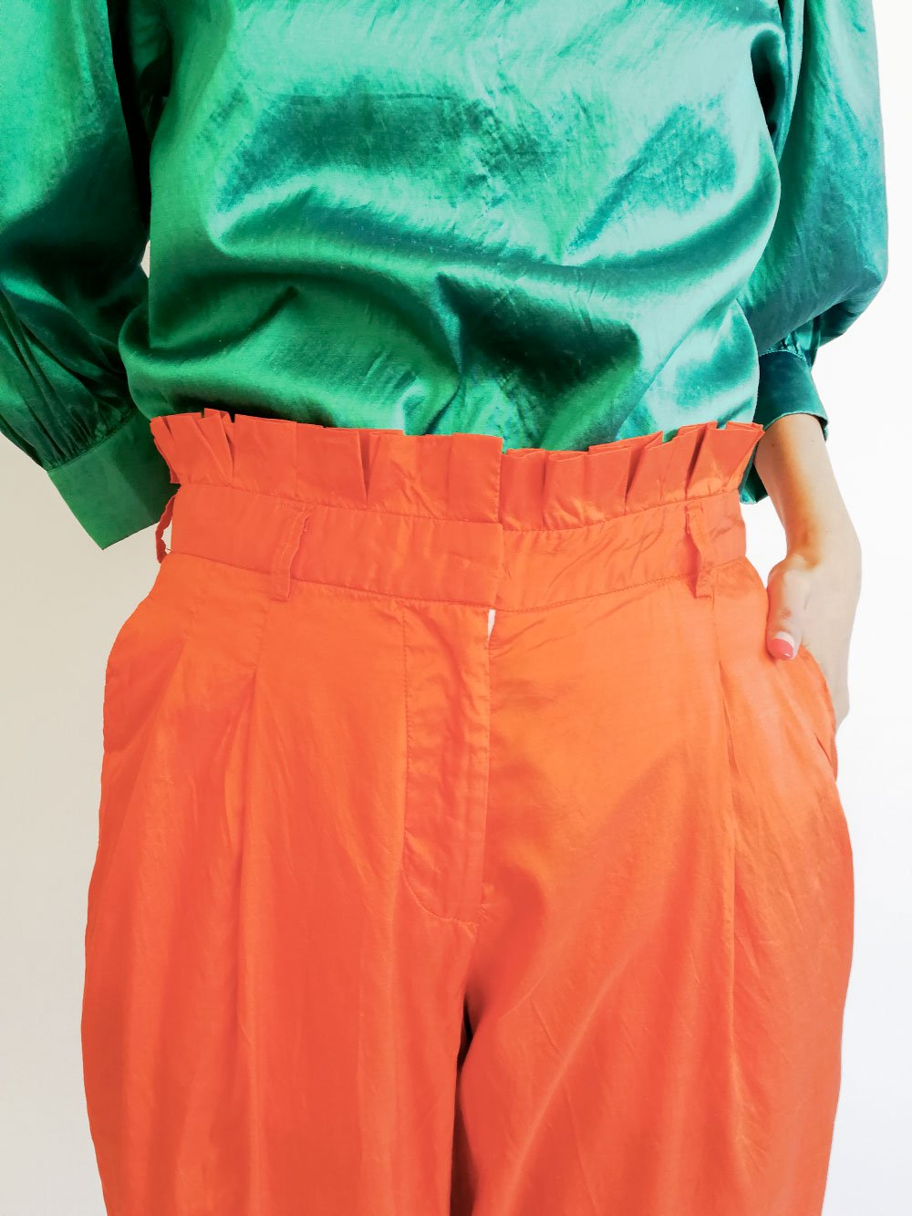 Tucked Pants / orange