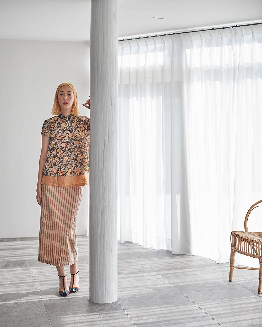Pencil Skirt / original beige