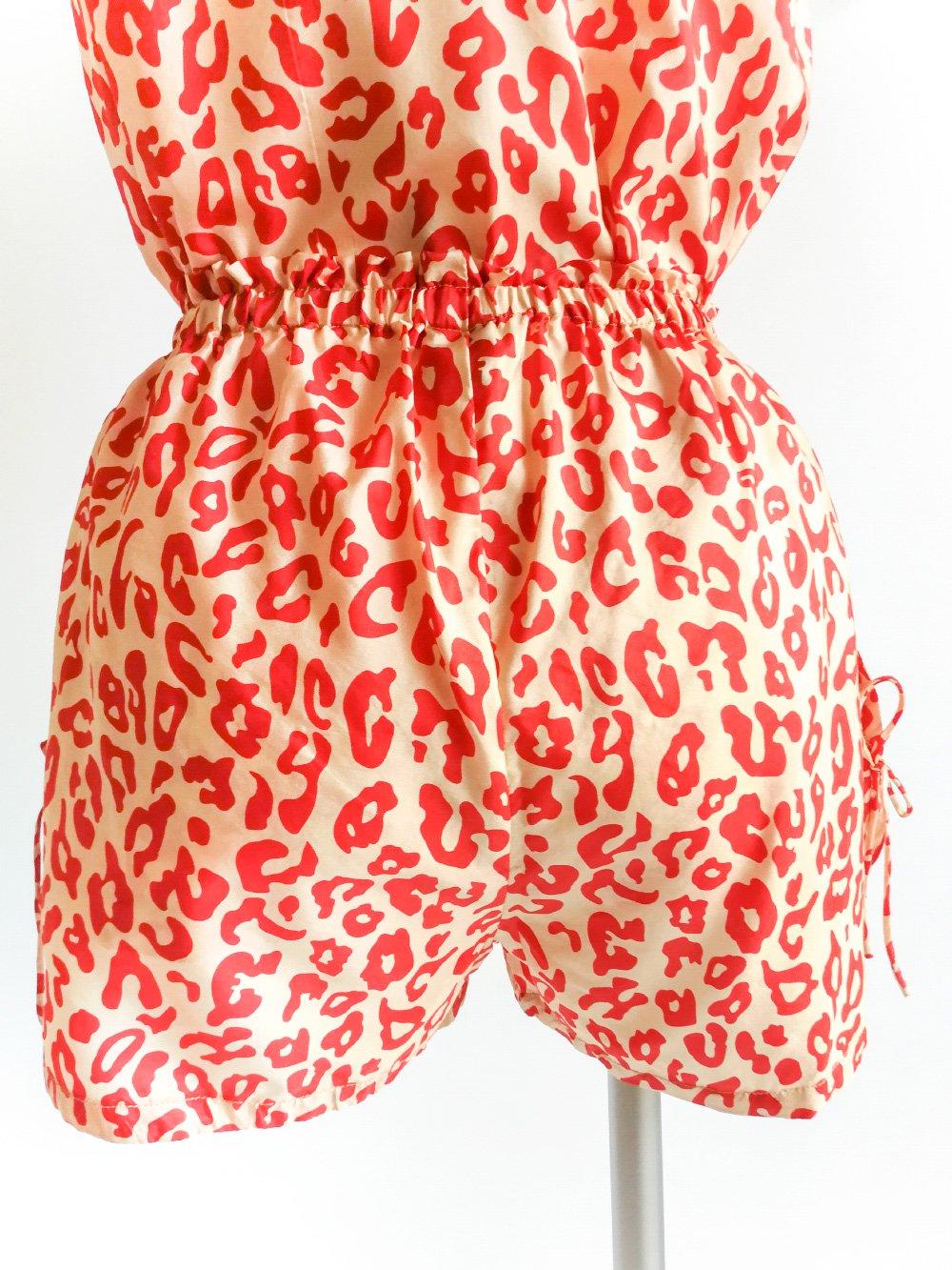 Shorts / leopard beige