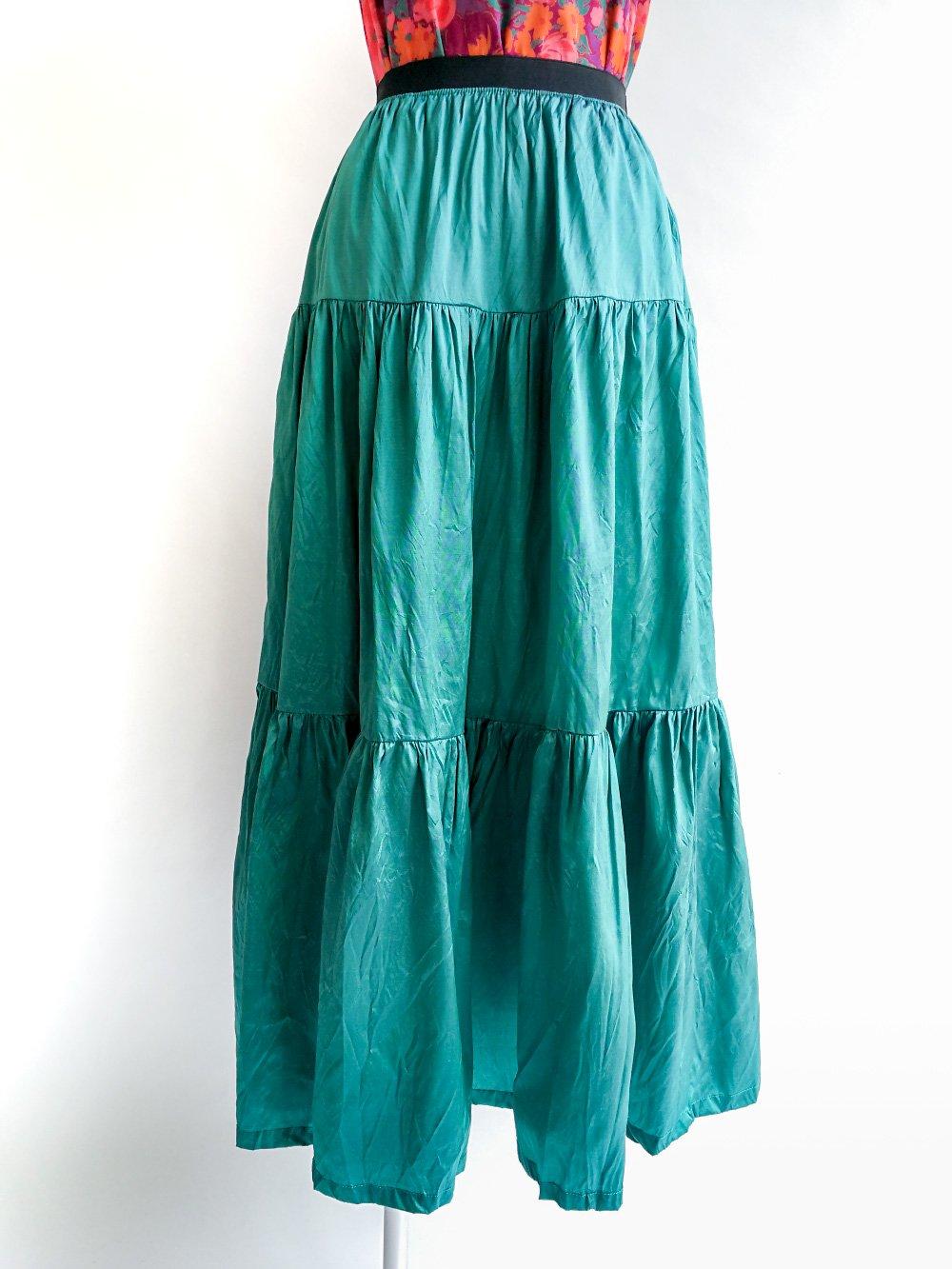Tiered Skirt / original blue