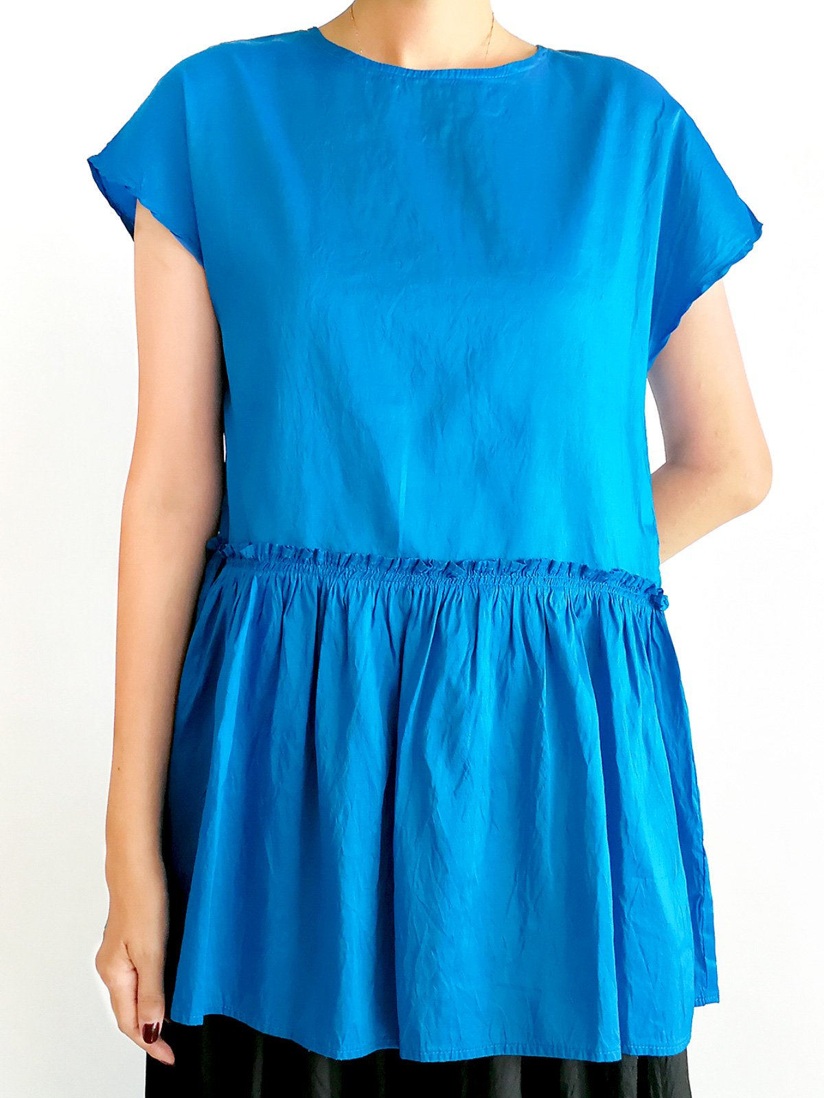 Gather Tops / turquoise