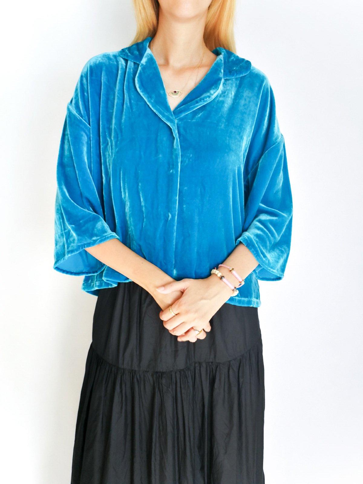 Pajamas Shirts (velvet) / blue