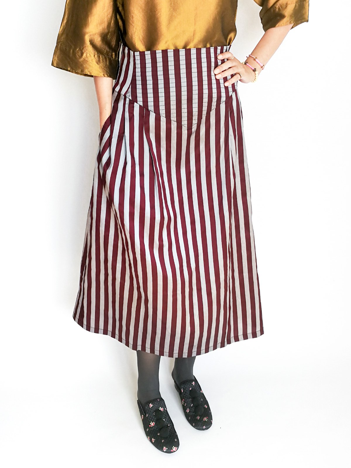 Midi Skirt / original bordeaux