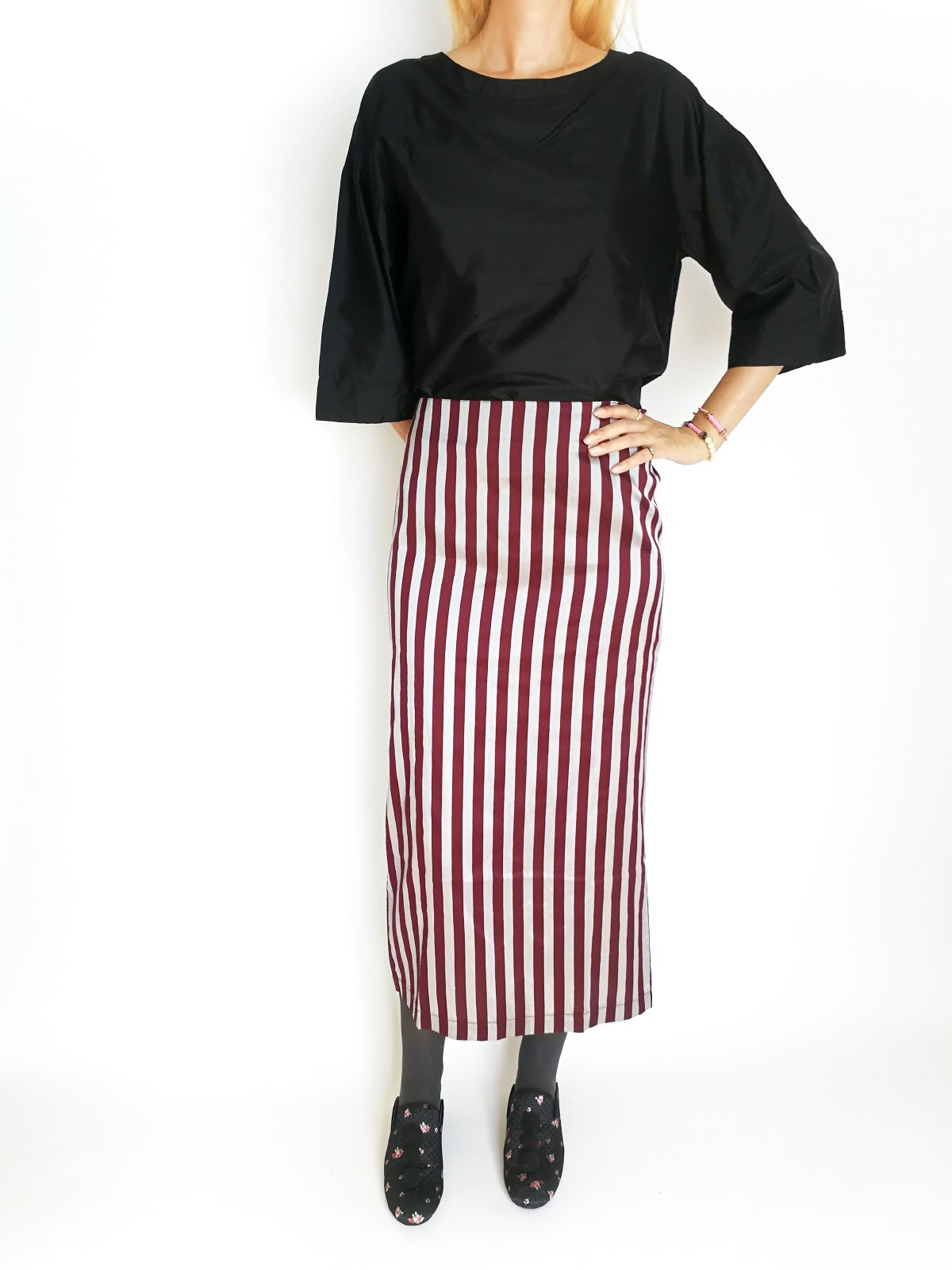 Pencil Skirt / original bordeaux