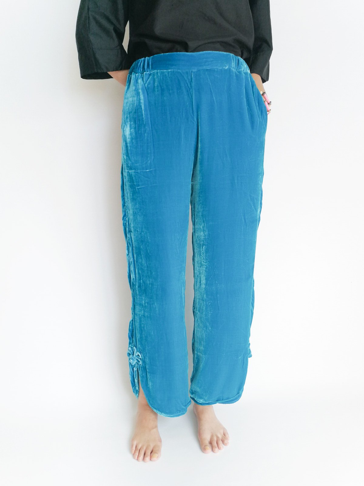 China Pants (velvet) / blue