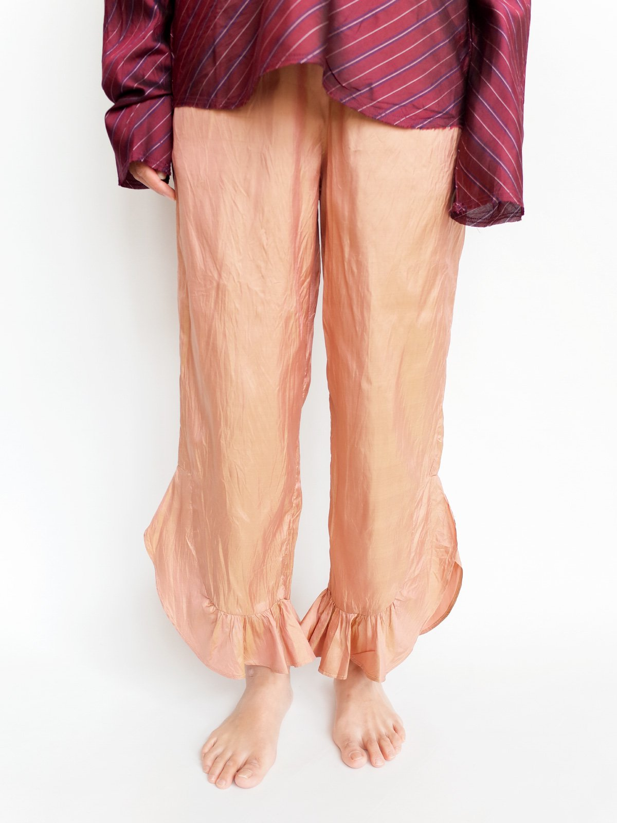 Fin Frill Pants / beige サムネイル