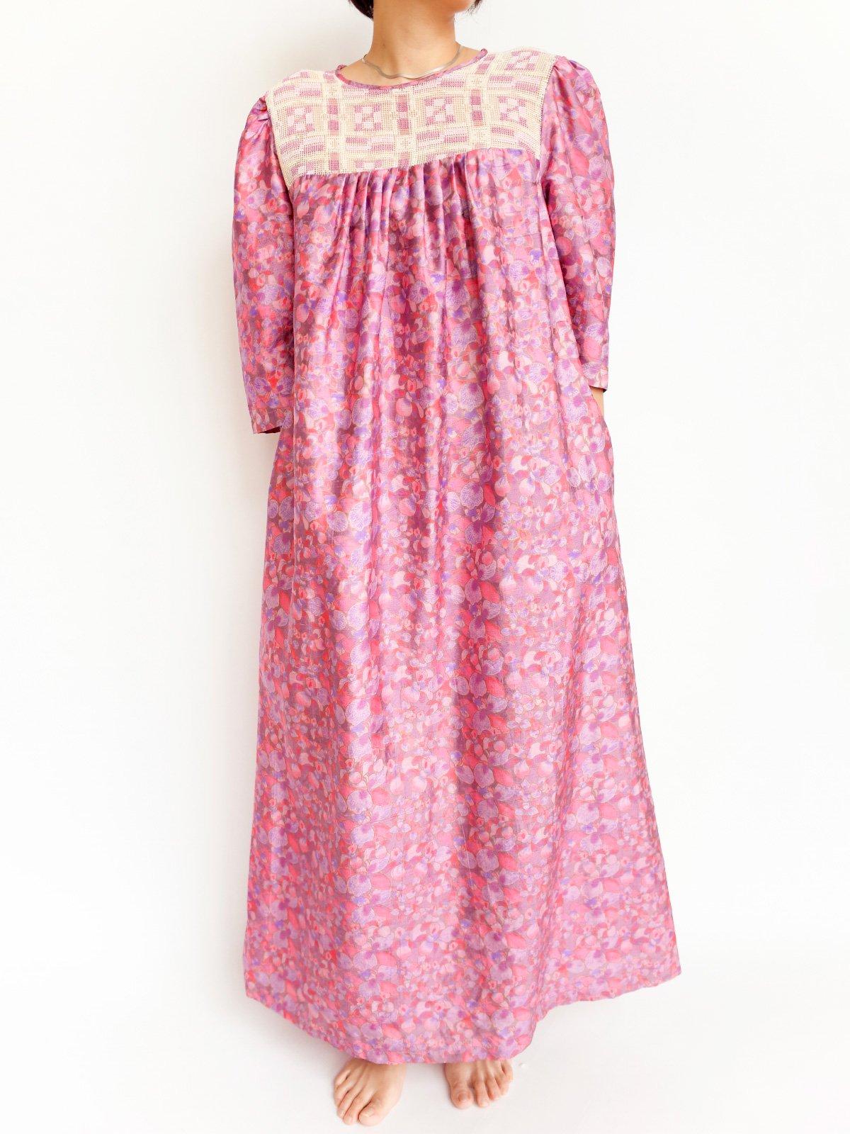 Long Dress / pink flower